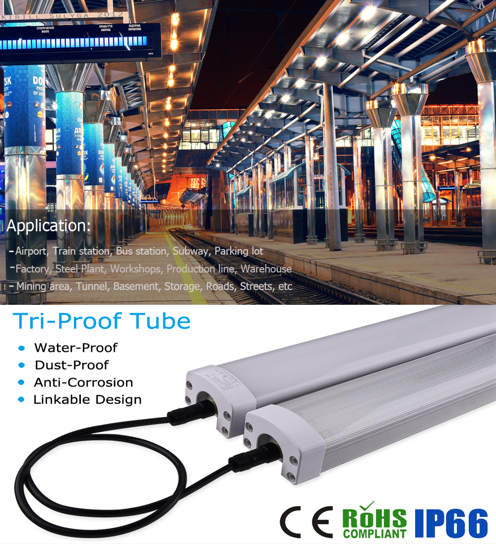 High bright Russia SAA C-tick list IK10 led 10w outdoor light 12V 24V triproof light led tube BV CE approve