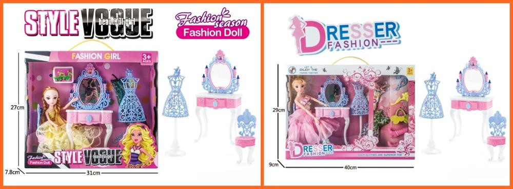China Wholesale Lovely Realistic Beautiful Fashion Doll With Dressing table