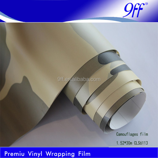 1.52*30M Factory Direct sell Camouflage Car Body Wrap Film with Air Channel,