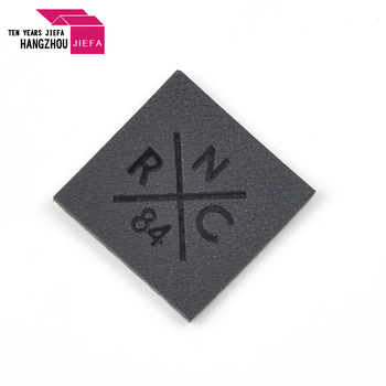 Custom logo synthetic leather patch debossed for hats