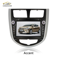 8 inch 2 din Touch Screen car dvd player multimedia for Hyundai Accent car radio navigation system with free rear view camera