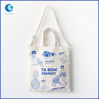 Printing hot sale dual purpose ladies canvas tote bags shoulder bags