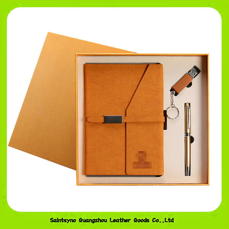Luxury custom executive PU Leather Office Business Gift Set 16023