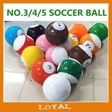 billiard soccer ball number football Mini Soccer Ball cheap Football Customized PU PVC TPU