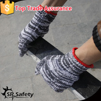 SRSAFETY 7g brown bleached polycotton/knitted gloves/cotton thread making machine