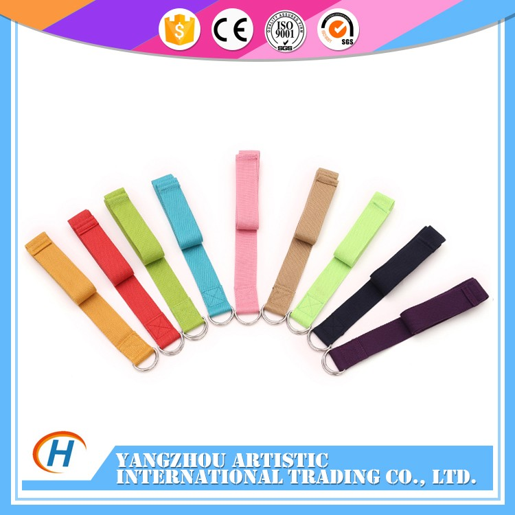 Cotton stretching polyester new style yoga strap carry strap manufacturers