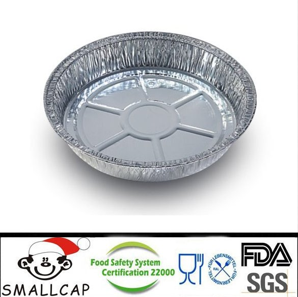 "Aluminium Baking Pan Round 9''diaX1.75"" depth foil"