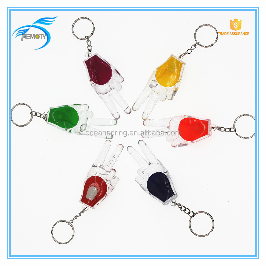 OEM LOGO Promotional gift led key ring flash lights