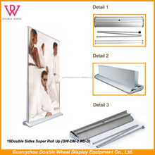 Economy Standard Roller Up Banner Stand spring roll up banner,Advertising vertical roll up banner, pull up stand display
