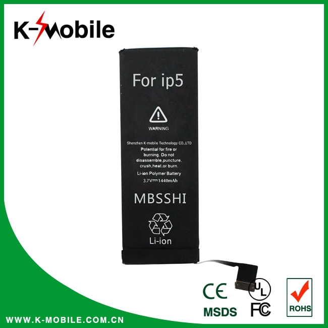 Factory Wholesale High Quality 1440mah For iPhone 5 Battery, Battery For iPhone 5, For iPhone 5 Battery