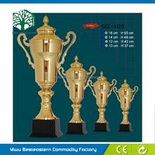 K9 Optical Glass Blank Block, Small Trophy Cup, Sport Metal Trophy