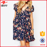 Latest Fashion Maternity Clothes For Pregnant Women Floral Dress