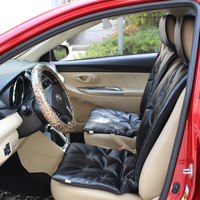 PVC leather car seat cover black and white