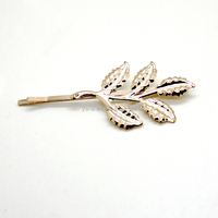 newly lady's fancy popular fashionable leaf metal hairpin