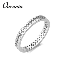 Top Quality Pure Sterling Sliver Engagement Gear Rings for Ladies