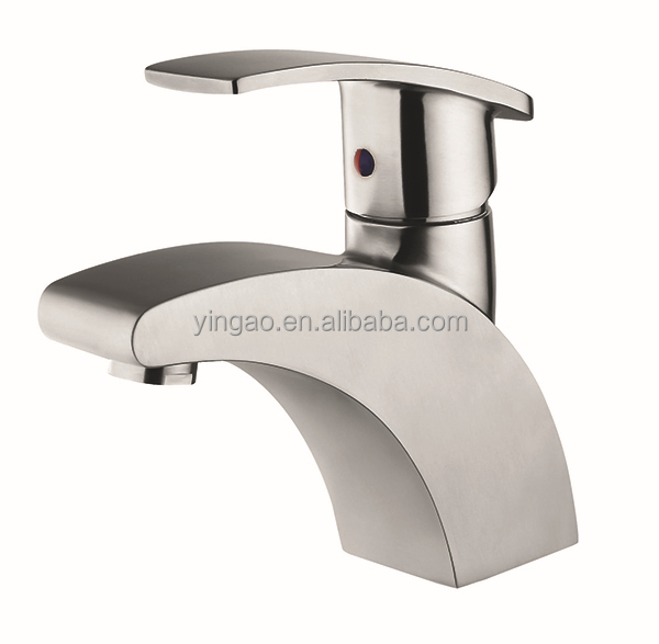 China Manufacturer Classic Stainless Steel Single Handle Mixer Tap Bathroom Faucets