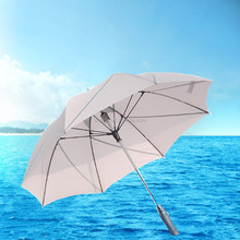 Personal Sun Umbrella UV-Protection Handle with Fan