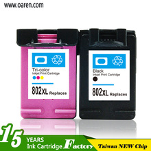 Recycling Green Ink Cartridge for hp 802 used for HP Printer 1000 1050 1010 1510 Officejet 4630 4634 printers