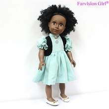 "custom your design vinyl doll wholesale 18"" african dolls"