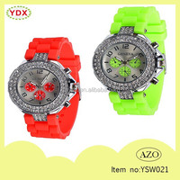 2015 Fashion Vogue Shiny Lady Jewelry Quartz Silicone Watch