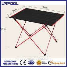 small folding camping table outdoor outdoor square folding table lightweight aluminum desk