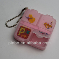 key chain pill box