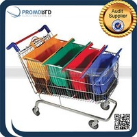 Hot selling 4 Bags Set Reusable Shopping Trolley Cart Bag