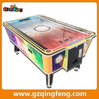 Qingfeng trade assurance suppliers double players 2 in 1 air hockey table with pool table