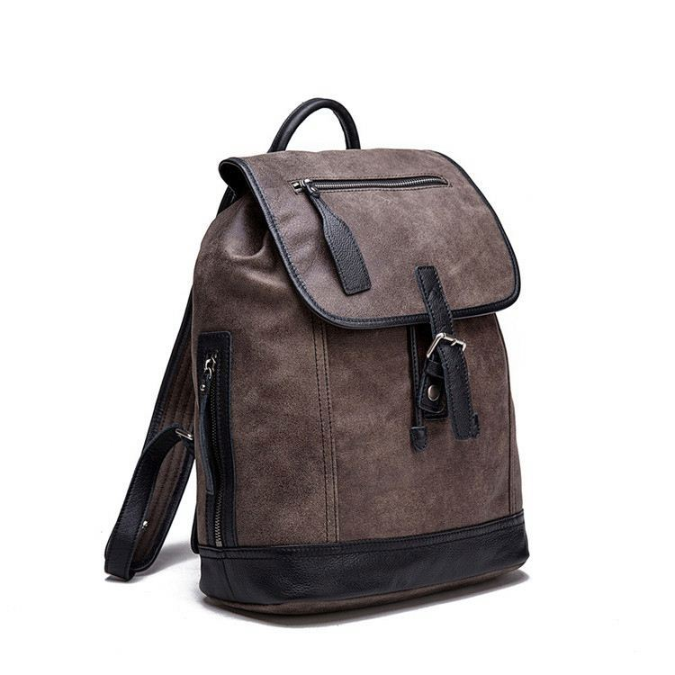 China Factory OEM Genuine Leather Backpack Leather Man