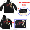 2016 high quality CVC 80% cotton 20% polyester zip up print and embroidery custom hoodies