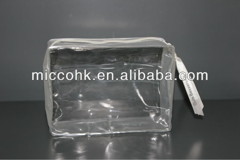 Clear PVC Bag with zipper for cosmetic