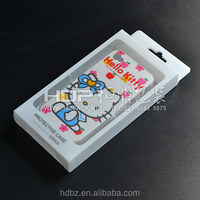 Customized transparent pvc fold box packaging for ipad case