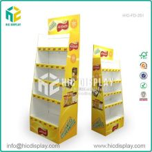 Custom printing oem corrugated shelves fsdu stands for home supplies, standard and elegant display stand for revlon