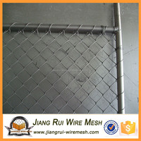 Galvanized dog proof chain link fence