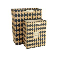New selling super quality on sale resealable yellow and black diamond-shaped lattice craft paper bags