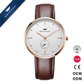 High-end brand new durable genuine leather watch Japan quartz movement sapphire crystal