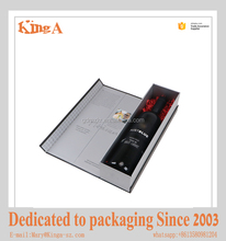 luxury wine bottle carriers gift box foldable magnetic closure paper cardboard box