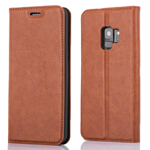 Mobile Accessories Flip Folio Kickstand Feature Pu Leather Wallet Phone Case For Samsung S9 Case