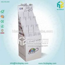 corrugated material POP floor stand cell display for store