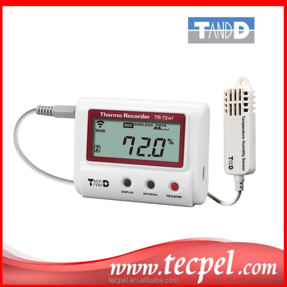 TR-71nw 72nw 72nw-h High Precision Temperature Humidity Datalogger
