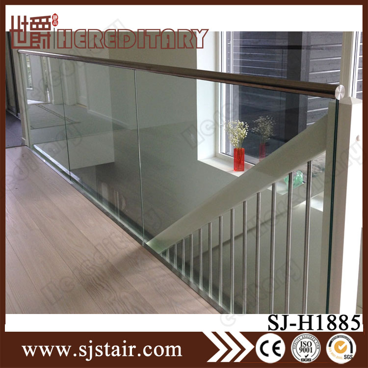 prices of u channel tempered glass balcony aluminum alloy railing design