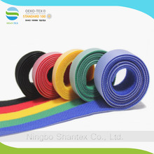 colored recyclable cable tie back to back hook and loop tape