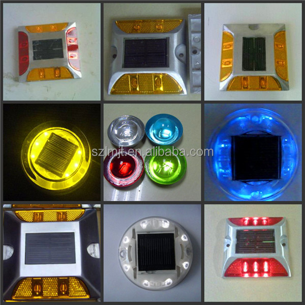 Hot sale reflector embedded waterproof colorful LED solar road stud