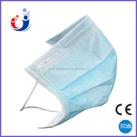 Manufacture machine make 3 ply earloop disposable non woven medical surgical face mask