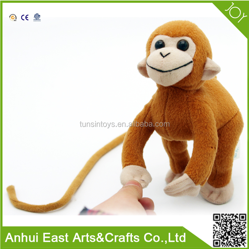 MOST POPULAR WHOLESALE PLUSH STUFFED MONKEY WITH LONG ARMS AND LONG LEGS FOR BAG OR BUILDING DECORATION