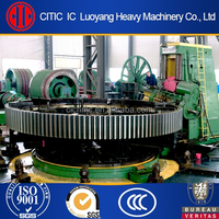 Casting girth gear, large gear ring for cement kiln, for cement mill