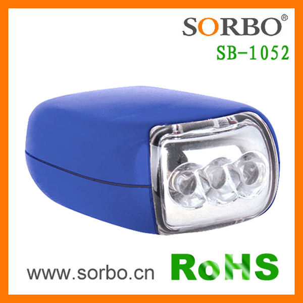 SORBO Promotional LED Wind Up Flashlight,Portable Mini Hand Crank Flashlight Torch Manufacture