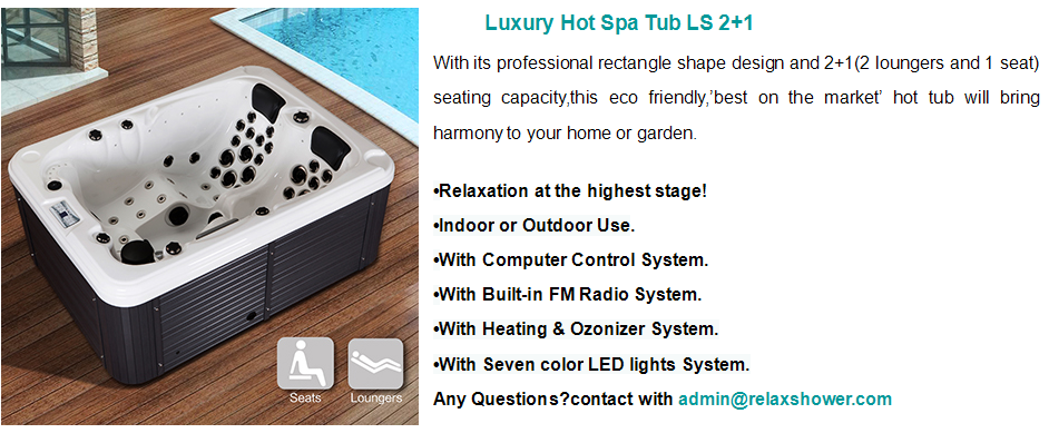 Cheap High Quality 3 Person Outdoor Acrylic Whirlpools Spa Hot Tub