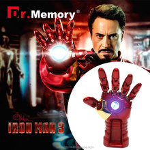 Dr.memory metal usb flash drive,iron man's hand hot usb gedget the avenger series memory card