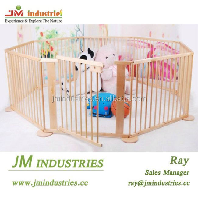 square baby playpen/wooden baby fence